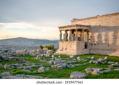 Sunset on the Acropolis of Athens