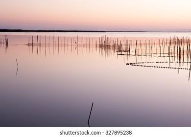 Sunset on the Albufera (Lagoon) of Valencia