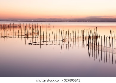 Sunset on the Albufera (Lagoon) of Valencia