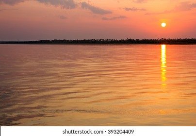 Sunset on Amazon River during Boat Trip