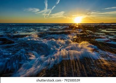 Sunset on the Atlantic Coast Cadiz Spain
