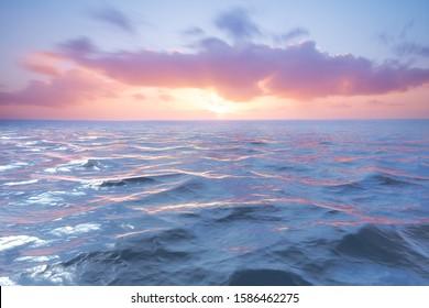 Sunset on the atlantic ocean. Florida, USA