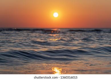 Sunset on Baltic sea.