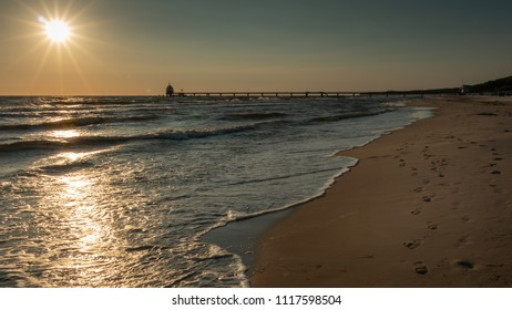 Sunset on the Baltic Sea of Usedom Island, Germany