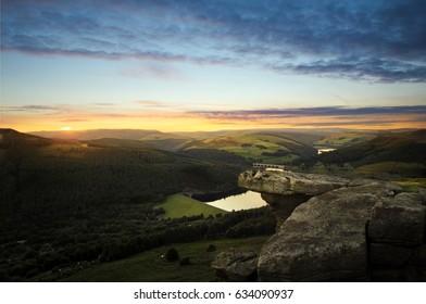 Sunset on Bamford Edge, Peak District