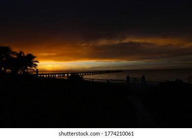 Sunset on the beach in Chixchulub Puerto