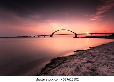 Sunset on beach, Fehmarn