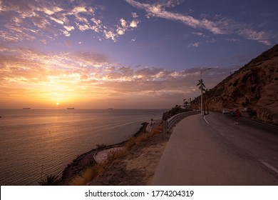 Sunset on the beach in La Paz Baja California Mexico