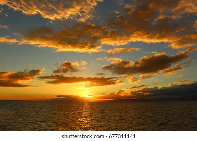 Sunset on the beach of Malaysia
