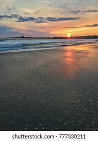 Sunset on the beach, Santa Cruz, California