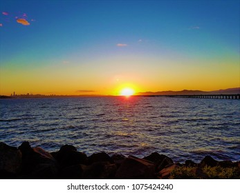Sunset on Berkeley Bay California