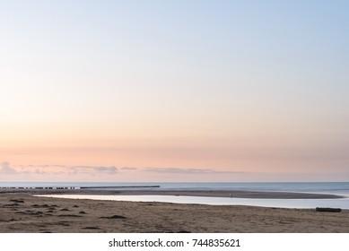 sunset on Bibione lagoon