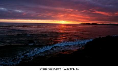 Sunset on Big Sur