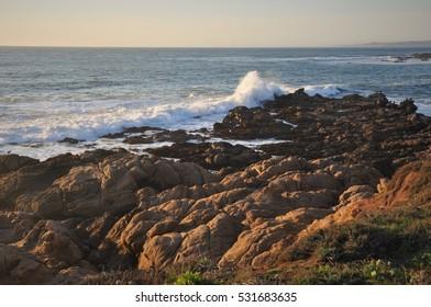 Sunset on the Big Sur coastline of California