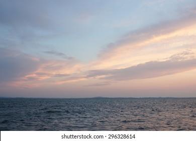 Sunset on a black sea