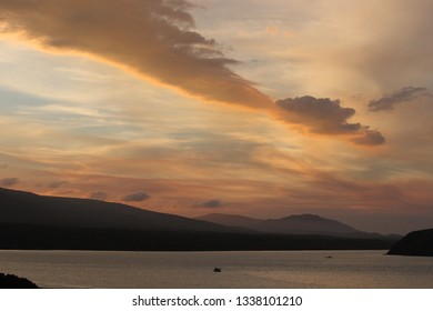 sunset on the Breede River near Infanta, South Africa