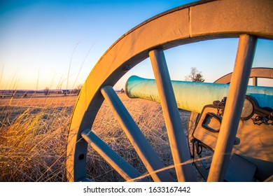 Sunset on a cannon at Gettysburg