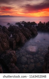 sunset on cap d'antibes