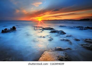 sunset on cap dramont