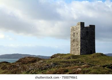 Sunset on Castle point Island west Cork