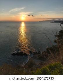 Sunset on a coast