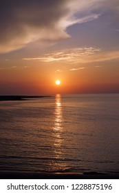 Sunset on the coast of North Cyprus near Dipkarpas