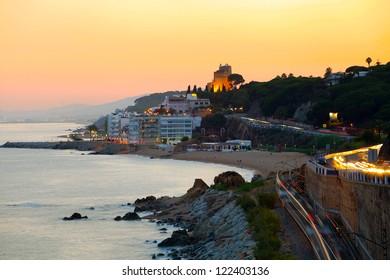 Sunset on the coast (Spain, Catalonia, Costa Brava)