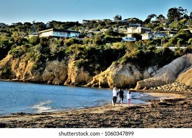 Sunset on  coastline. Mornington Peninsula.Australia