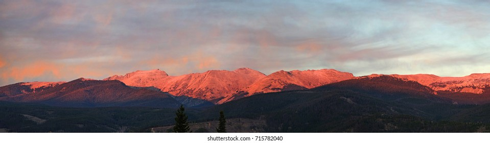 Sunset on the Continental Divide, Winter Park, Colorado