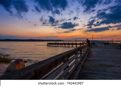 Sunset on the dock, Eastern Shore, Maryland