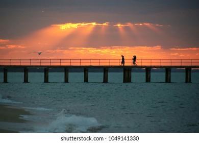 Sunset on Dromana Pier
