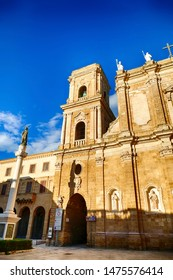 Sunset on the exterior of the Cathedral basilica,Brindisi, Puglia, Italy