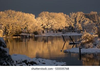 Sunset on Frozen Trees