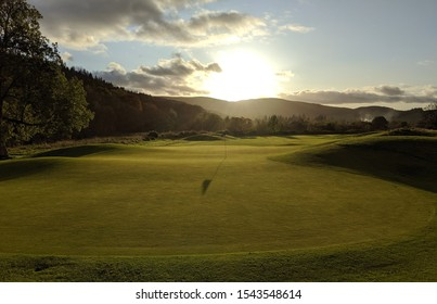 Sunset on the green in Scottish Borders