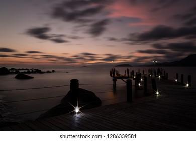 sunset on ilhabela, são paulo, brazil