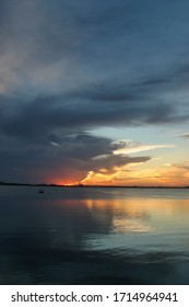 Sunset on the Indian river in Melbourne Beach Florida