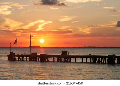 Sunset on Isla Mujeres, Mexico