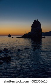 sunset on the island, Italy