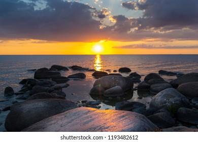 Sunset on the island of Oland