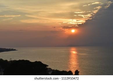 Sunset on Ixia beach - Rhodes island - Greece