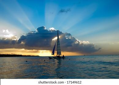 Sunset on Jamaica