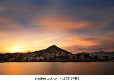 sunset on La Napoule