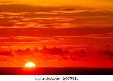 sunset on the Laem Phrom Thep Phuket , Thailand