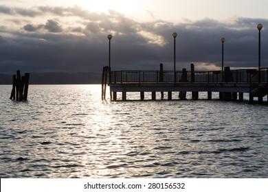 Sunset on Lake Bracciano, seen from Anguillara Sabazia