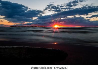 Sunset on the Lake Erie Shore