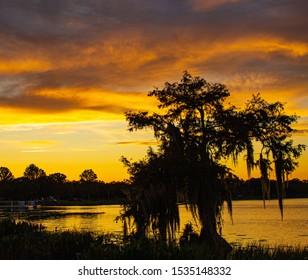 Sunset on Lake Harris in Leesburg, Florida