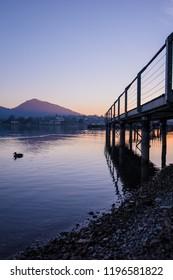 sunset on lake iseo, Italy