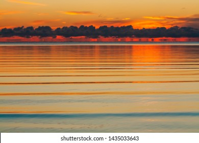 sunset on the lake, natural background