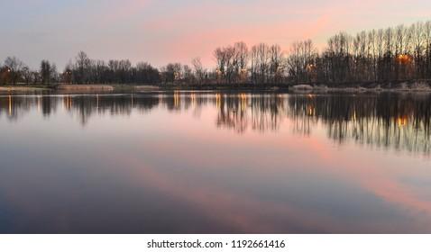 Sunset on the Lake, Poland
