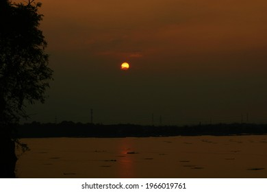 Sunset on Lake Ranu, Pasuruan.